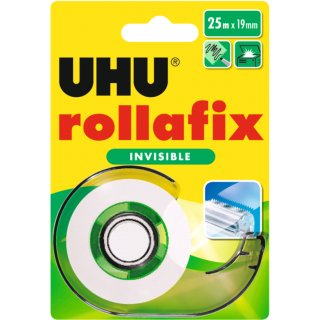 UHU Klebefilm rollafix invisible inkl. Handabroller