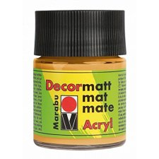 Marabu Acrylfarbe Decormatt metallic gold 50 ml im Glas