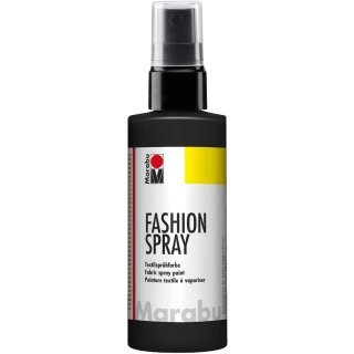 Marabu Textilsprühfarbe Fashion Spray schwarz 100 ml