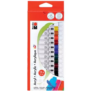Marabu Acrylfarbe 12 ml 12er Set