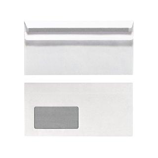 Herlitz Briefumschlag Din Lang Mit Fenster Weiß Selbstklebend 100
