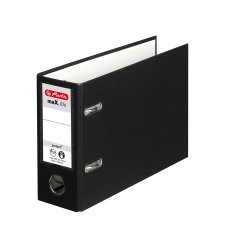 Herlitz PP Ordner maX.file protect A5 quer schwarz