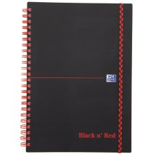Oxford Black n Red Collegeblock DIN A4 kariert PP 70 Blatt