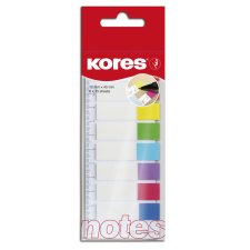 Kores Pagemarker Folie 12 x 45 mm 8 x 15 Blatt + Lineal