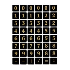 61x HERMA Buchstaben-Sticker gold glitzernd Großbuchstaben 8 mm Folienaufkleber