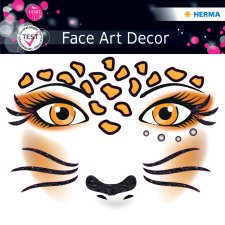 HERMA Face Art Sticker Gesichter Leopard