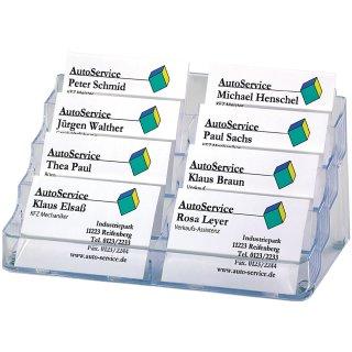 Sigel Visitenkarten Aufsteller Hartplastik Mit 8 Fächern Glasklar