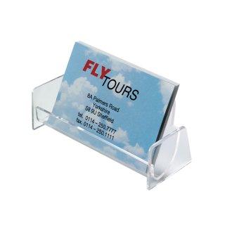 Sigel Visitenkarten Aufsteller Hartplastik Mit 1 Fach Glasklar