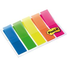 Post-it Haftmarker Index 11,9 x 43,2 mm 5-farbig 5 x 20...