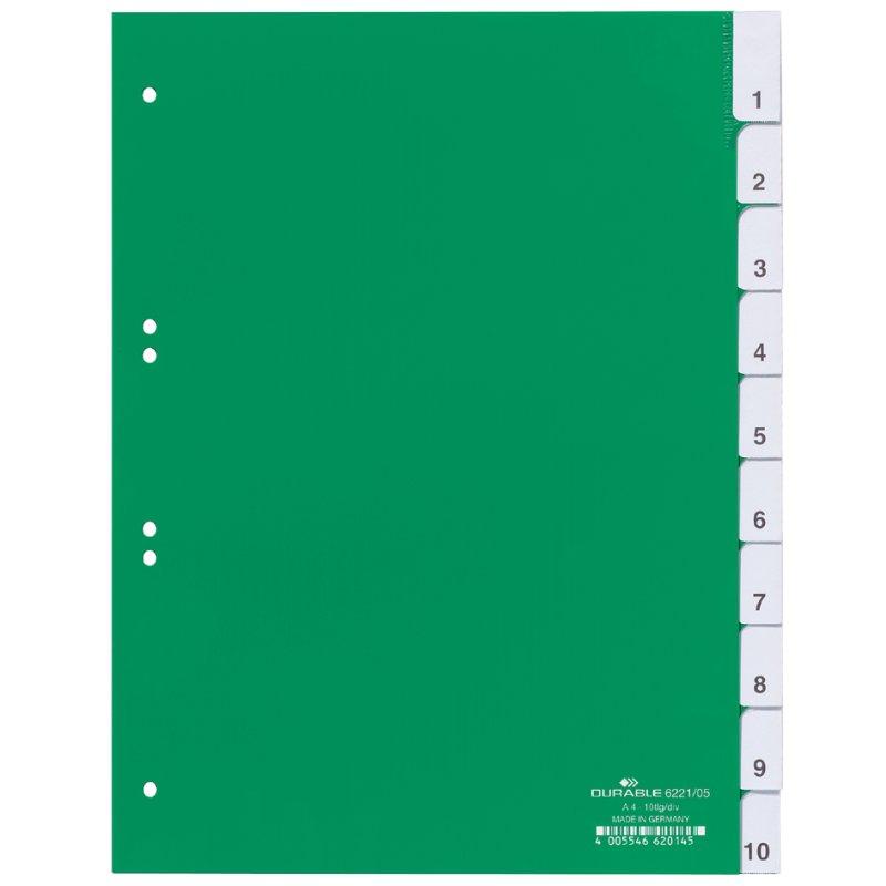 Ordner-Register 1-12 DIN A4 12-teilig Kunststoff-Trennblätter