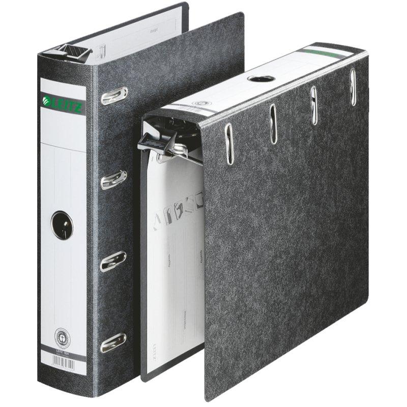 LEITZ Wolkenmarmor Doppelordner DIN A4 für Kontoauszüge 2 x DIN A5 quer 75 mm