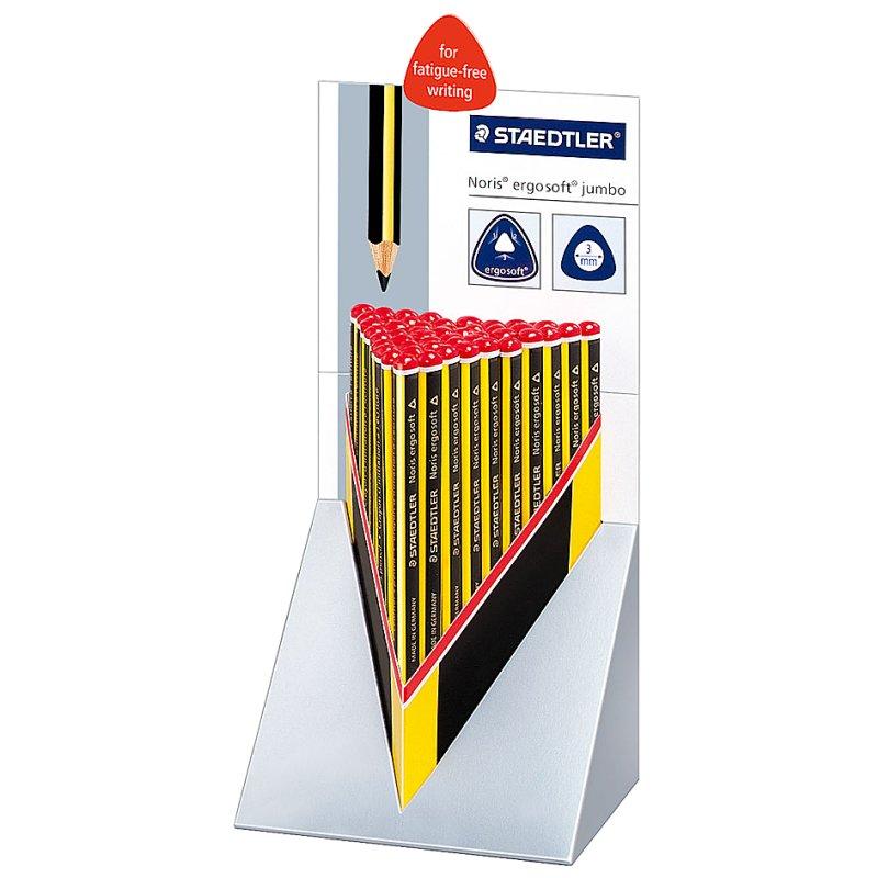 NEU!!! STAEDTLER Noris ergosoft 2B Bleistift 3 Schreiblernstifte