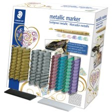 STAEDTLER Permanent Marker Metallic 100er Display