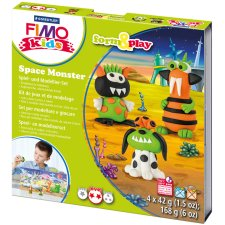 FIMO kids Modellier-Set Form & Play Space Monster Level 2