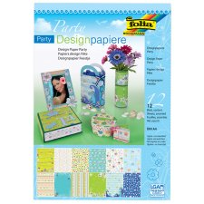 folia Designpapierblock Party DIN A4 165 g/qm 12 Blatt
