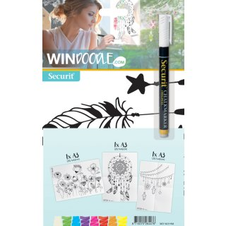 Securit Fensterschablonen-Set WINDOODLE Home-Motiv