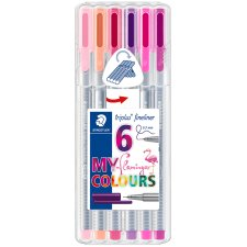 STAEDTLER Fineliner triplus MY flamingo COLOURS 6er Etui