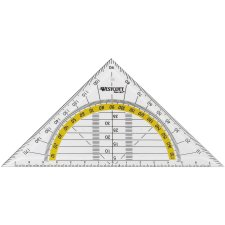 WESTCOTT Geodreieck Hypotenuse: 140 mm transparent