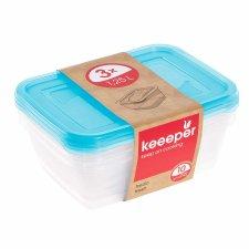 """keeeper Frischhaltedose /""""fredo fresh/"""" 4,3 Liter eckig blau transparent"""