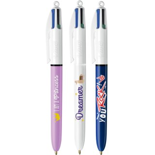 BIC Druckkugelschreiber 4Colours Messages Thekendisplay 20 Stifte