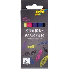 folia Kreidemarker Neon Lights 5er Set