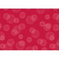 SUSY CARD Geschenkpapier Scribbled Circles rot auf Rolle...