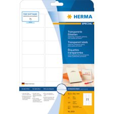 HERMA Inkjet-Etiketten 99,1 x 38,1 mm transparent